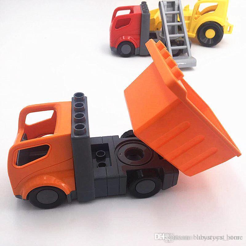 Koparki Ladder Ciężarówki Akcesoria Building Bloki Zabawki Edukacyjne Dla Dzieci Kompatybilny z Duploed Baby Toy Gift Kids Gift. # Erd