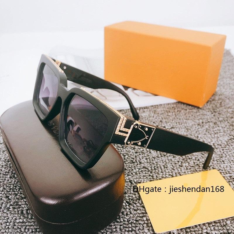 Milyoner Erkekler Kadınlar için Güneş Gözlüğü Tam Çerçeve Vintage 1165 Unisex Parlak Altın Için 1.1 Güneş Gözlüğü Sıcak Satmak Altın Kaplama En Kaliteli 96006