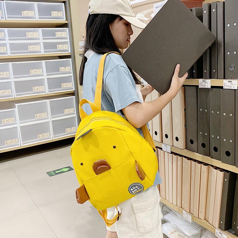 Cartoon en vente en gros en gros comme sac à dos de même type 2020 canard parent-enfant petit enfant jaune Tiktok Nouveau Sac à dos CGSQT