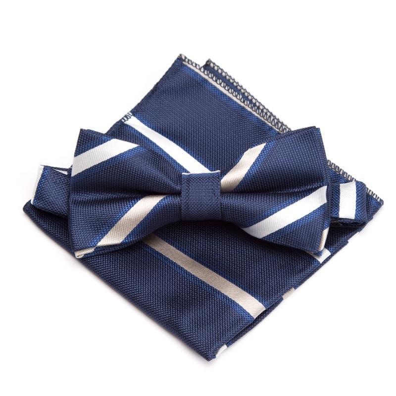 Cuello de cuello Hombres Bowtie Handkerchief Conjunto Moda para Mens Gravata Vestido de novia Party Jacquard Paisley Ajustable Adultos Arco Corbata