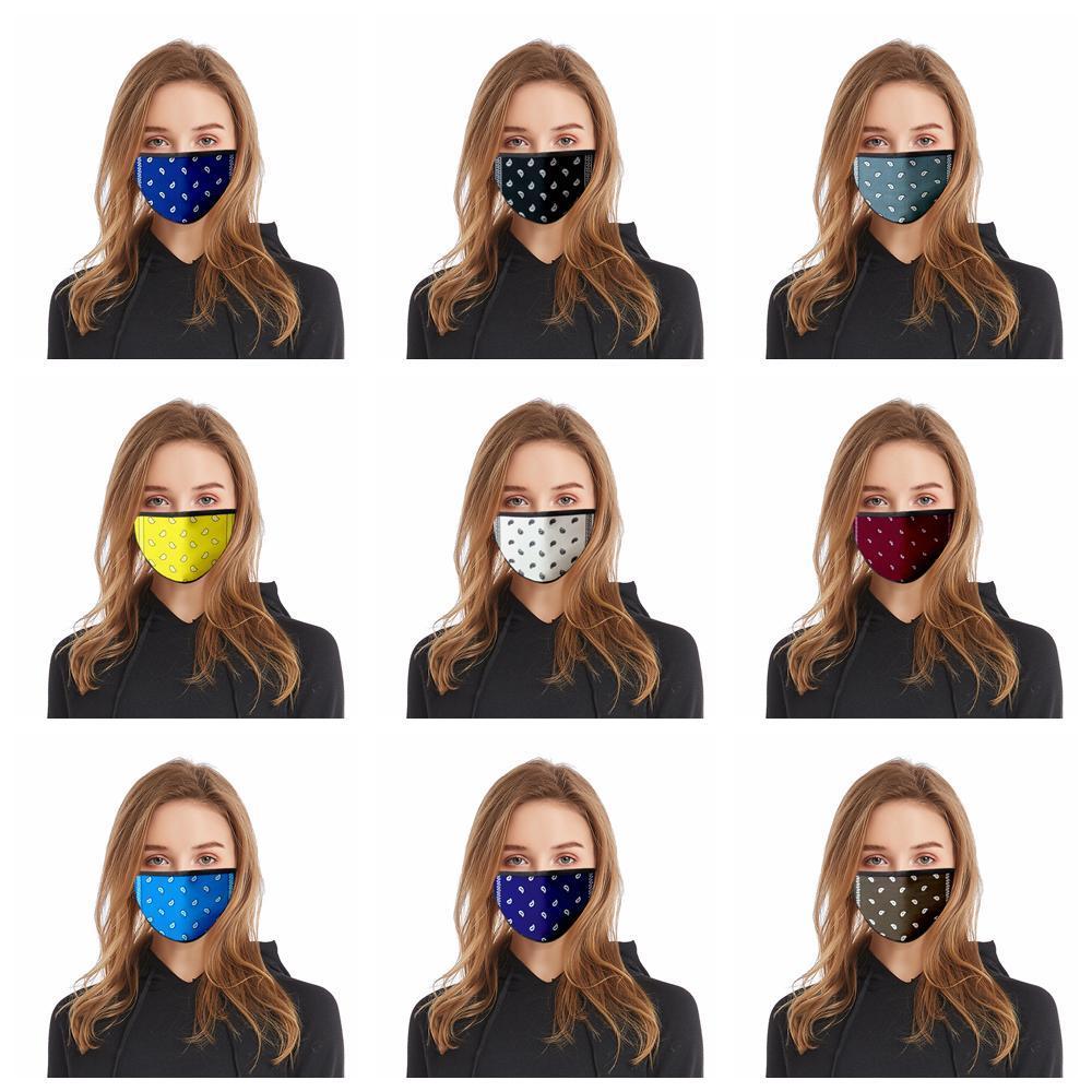 Printed Abdeckung Staubdichtes Doppel Paisley Außenschutzschichten Maske FFA4187 Gesichtsmaske Kinder Erwachsene Earloop Masken Mund Printed Abdeckung Voih
