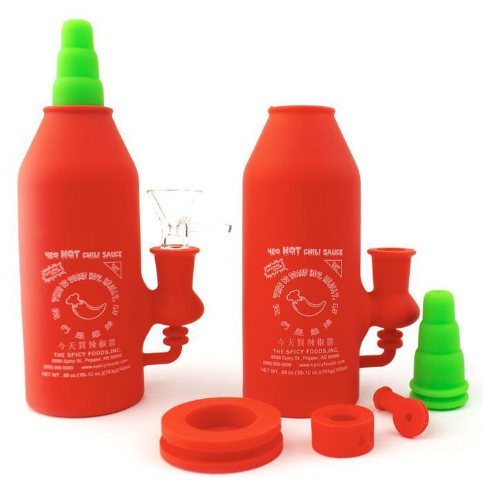 6,7 pouces Tuyaux d'eau de l'eau de silicone Bong Bong amovible recycleur DAB Plate-forme de silicone DAB pour fumée incassable Bongs