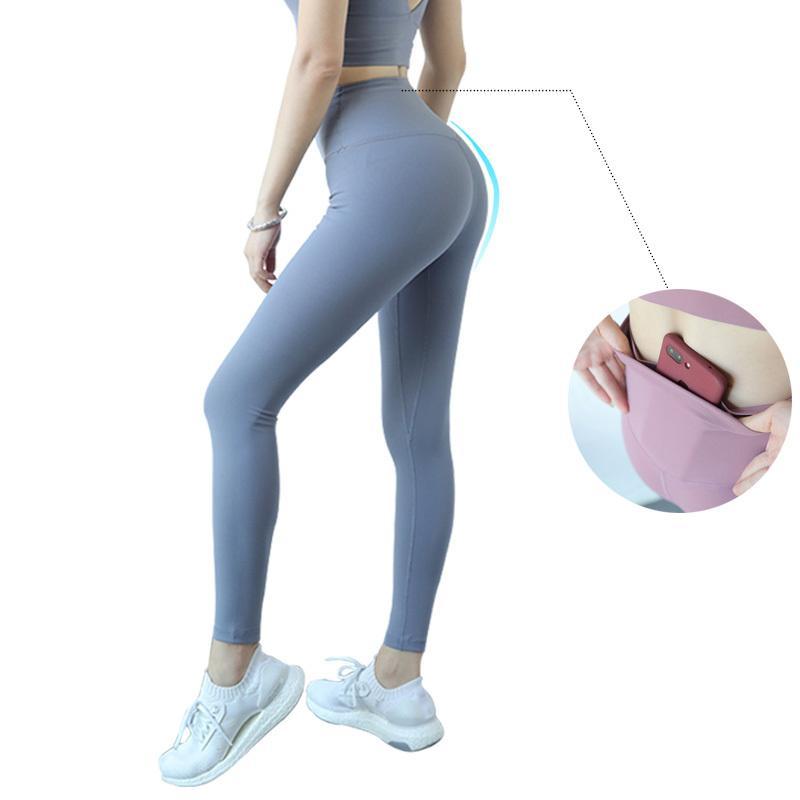 Pantalon de yoga à taille haute Sport 7/8 Leggings Femmes Fitness Legins Push up Gym Leggins Femmes avec Pocket Plus Taille Joga Sportleggings x1227