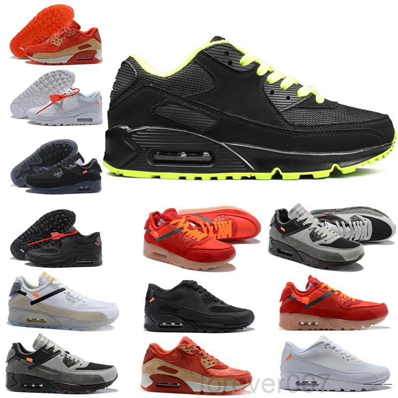 Triple preto branco 90 homens sapatos casuais infravermelho camo todo mundo premium se vermelho hyper uva real 90 homens mulheres instrutores esportivos sneakers hkkg