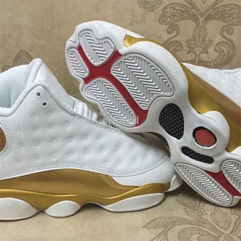 Dmp Herren Xiii Basketball-Schuh-weißes Gold 13s Hoch 13 Qualitäts Männer 98 definieren Moments-Sport-Trainer-Turnschuhe Größe 8-13QJOKQJOKQJOK