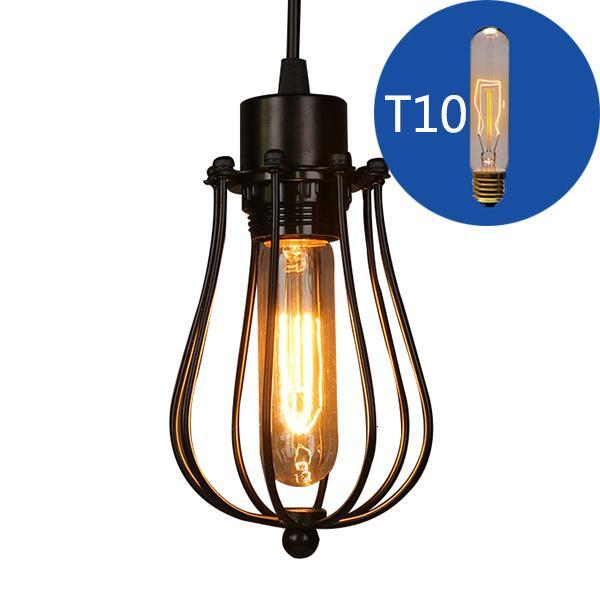2021 Новая клетчатка Chandelier Edison Light Light Light Loft Restaurant Спальня Подвеска Светодиодная осветительная промышленность Старинные железные светильники для дома 2 G11W
