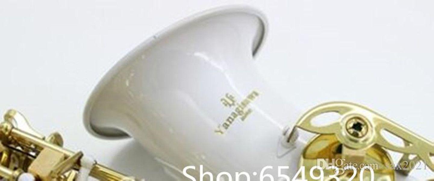 Yanagisawa A-992 Белый Тело Золотой Лак Ключ Alto EB Tune Saxophone Высокое Качество Латунь Сакс Инструмент Бесплатная Доставка