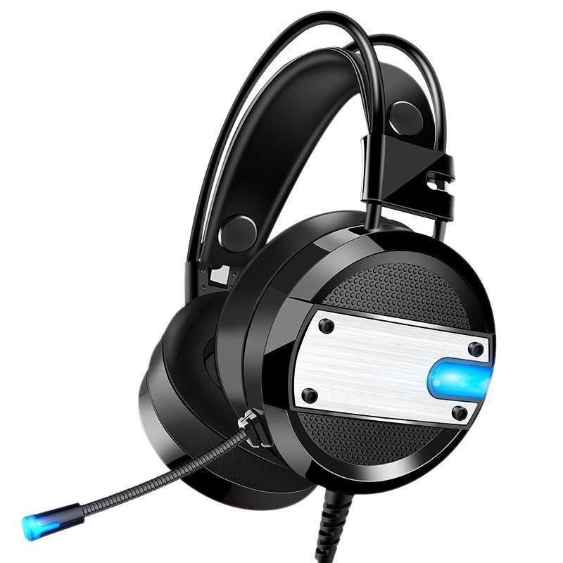 Wired Gamer Headset tiefer Bass Gaming-Kopfhörer mit Mikrofon LED-Licht für PC Laptop-Computer