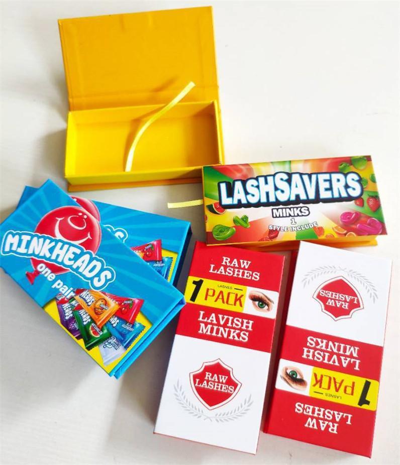 الحلو الحلوى رمش حالة الظلام الوردي لاش مربع crosscross 3d المنك الرموش مخصص جلدة مربع التعبئة والتغليف