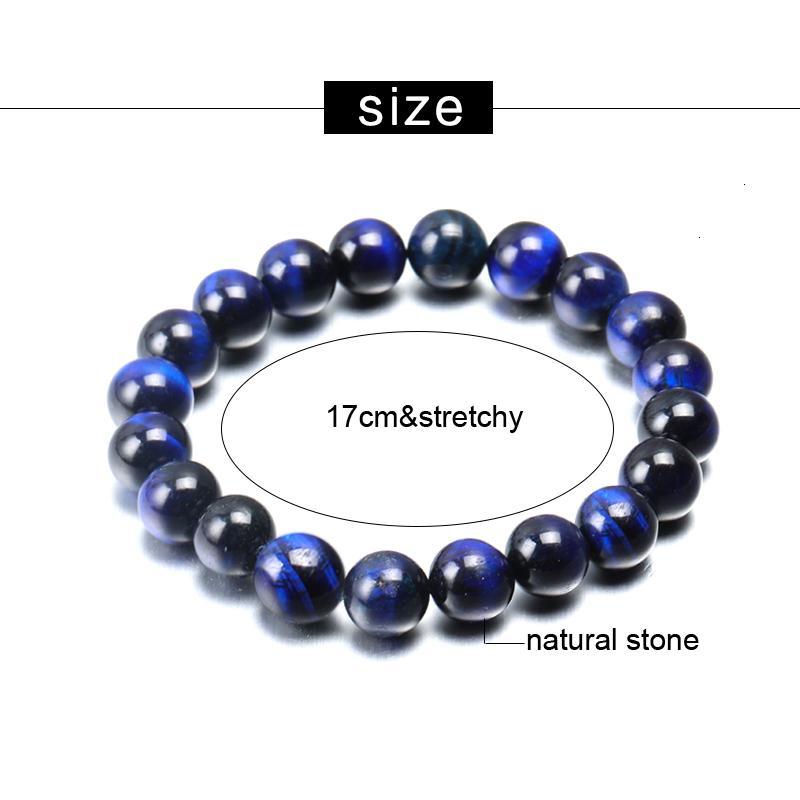 Качество Будды Blue Tiger Eye Высокие Браслеты 6 мм 8 мм 10 мм Натуральный Камень Круглые Бусы Эластичность Веревки Человек Женщины Браслет Дизайн Ювелирные Изделия