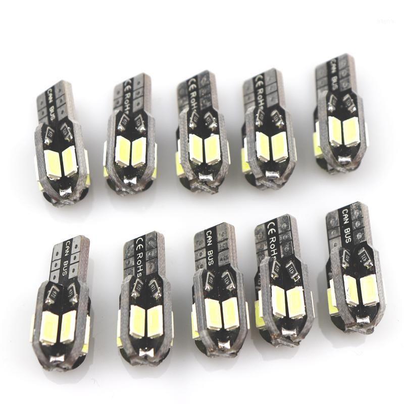 10pcs T10 8 SMD 5630 LED CANBUS Auto Lights Parking Auto W5W 194 5730 LED Lampe de plaque d'immatriculation LED PLAQUE Lampe de la queue de queue de queue de queue Lampes1