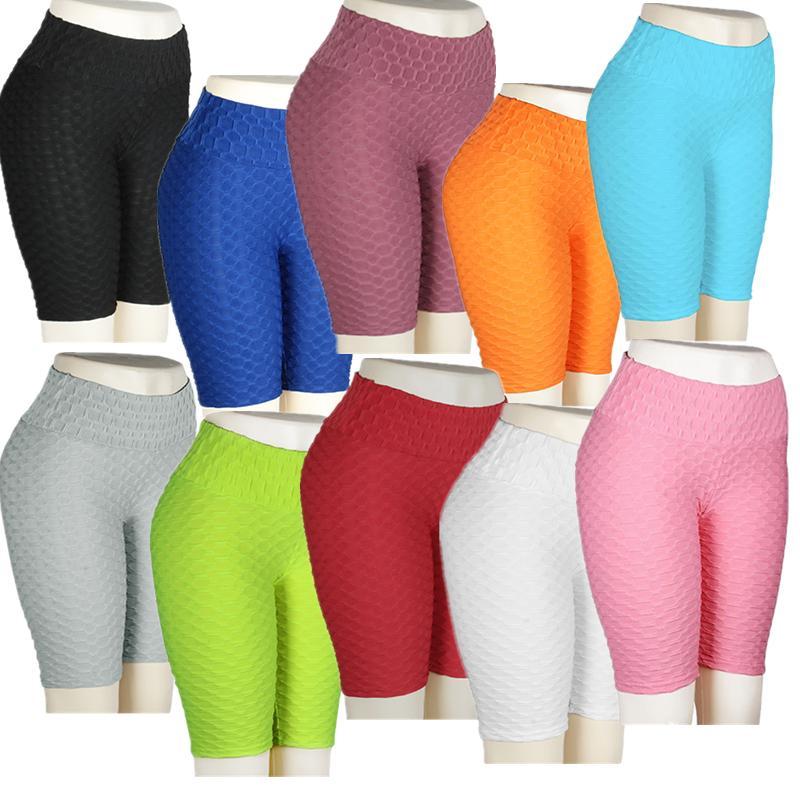 leggings donne Hot Shorts pantaloni di yoga sport bianco Push Up Collant Gym Esercizio vita alta fitness in esecuzione Athletic Pantaloni 201016