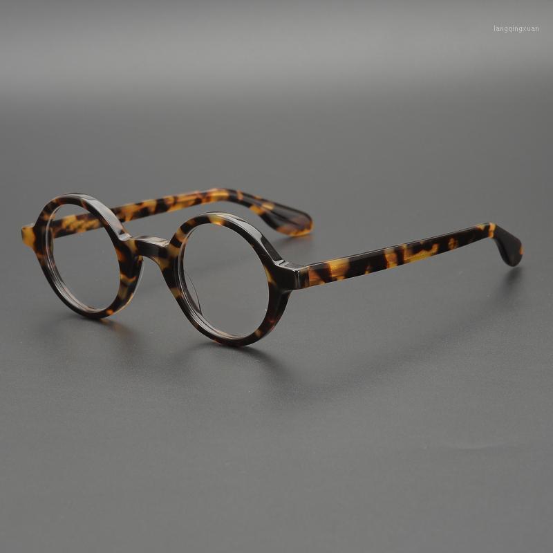 Vazrobe kleine runde brillen männer dicke acetat schildkröten gläser rahmen mann nerd vintage eyewear schaukeln für rezept1