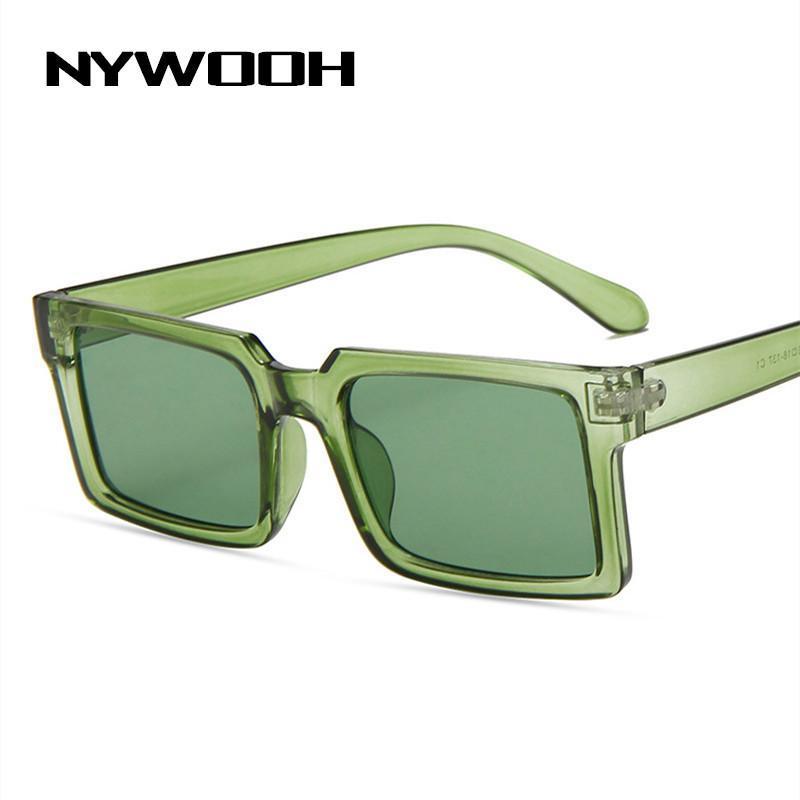 Lunettes de soleil Nywooh Square Square Petites Femmes Design Luxe Candy Couleur Verres Cadres Dames Brand Sun Voyage Eyewear Goggle