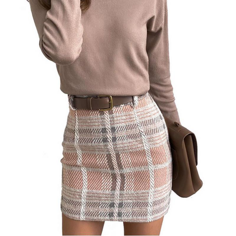 Для женщин Warm Юбки Sexy Vintage Harajuku плед Эстетические 90-ых Streetwear Корейский стиль мини-юбки осень зима новый A-Line