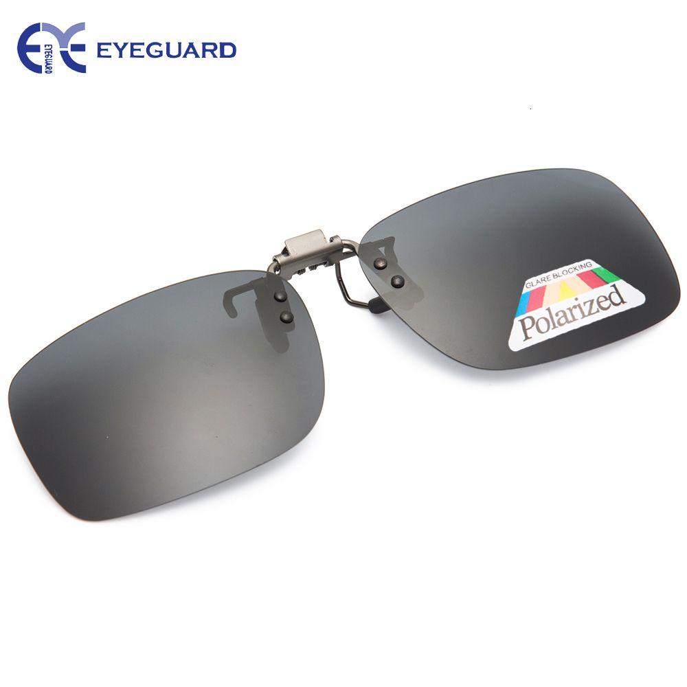 EYEGUARD мужского клип на флип очки для вождения Поляризованного объектива Стильных мод аксессуаров для очков UV400
