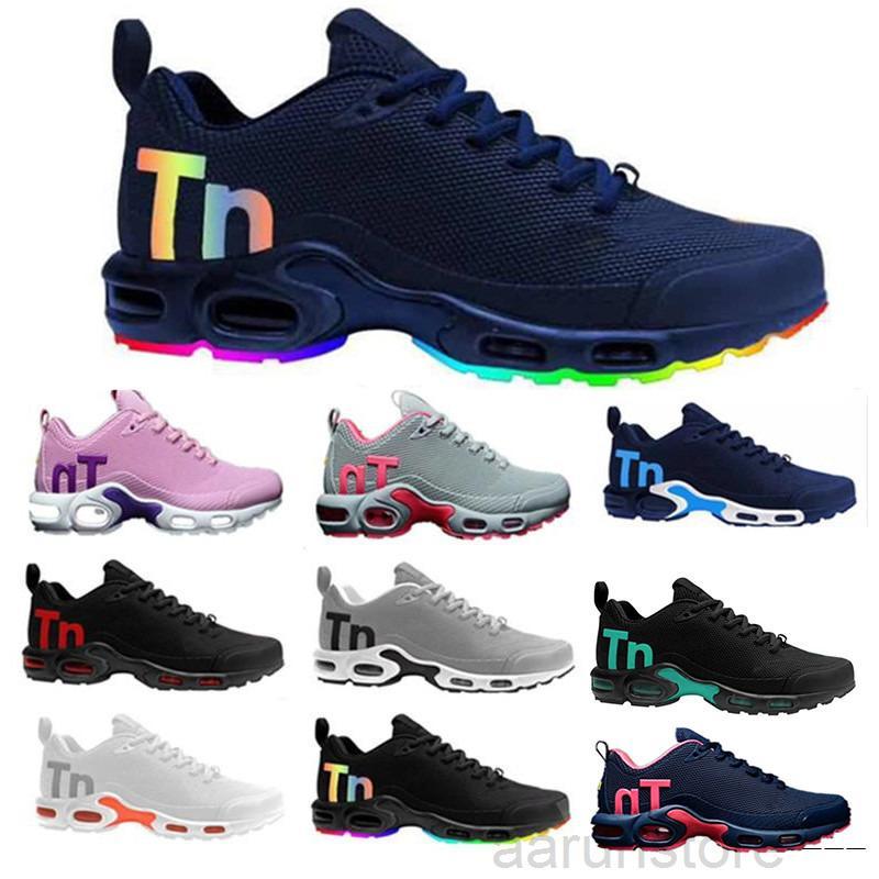 Kpu Mercurial Plus TN 2018 وسادة الهواء رجل chaussures se أسود أبيض أورانج desinger عارضة أحذية الرجال المدربين الرياضة أحذية رياضية الحجم K2R5