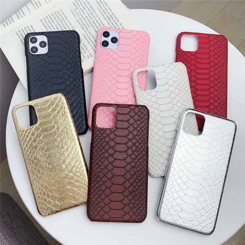 Fundas de cuero de moda para iPhone 13 12 Mini 11 Pro Max XR XS 8 7 SE Funda de cubierta de teléfono serpentina