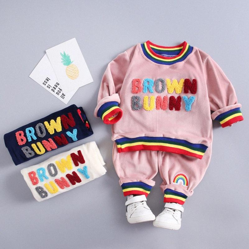 Baby Boys Clothes Set Girls Casual Set Outfits Autumn Sweatshirt+Pants 2pcs Outfit Suit Costume Infant Clothing For Baby Sets 8nPg#