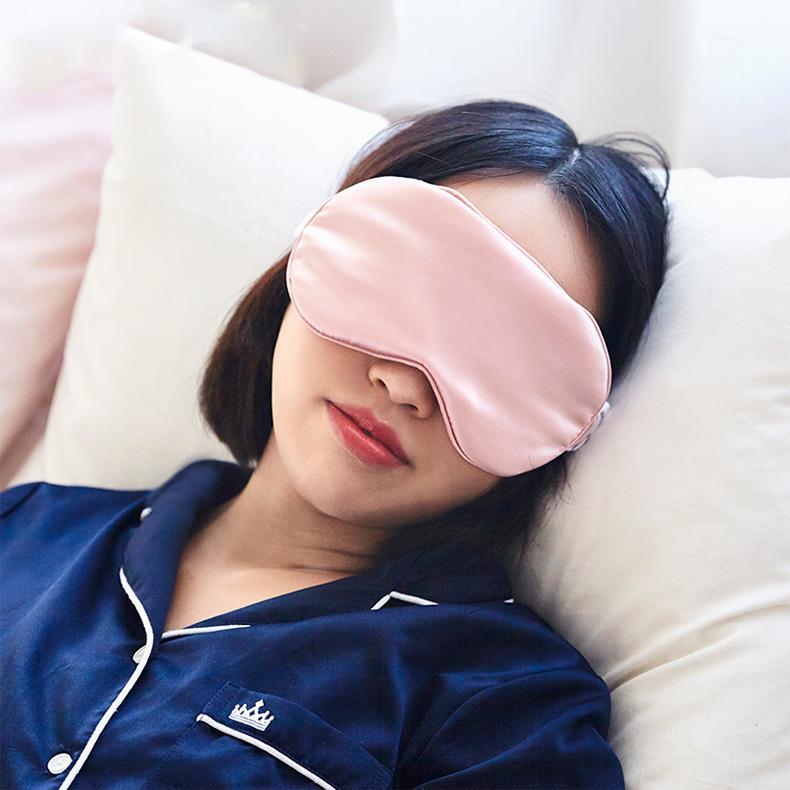 Shading Momme Cover Eyepatch Eye Double-Side Shade Silk Sleep Sleeping Eye Mask Mulberry Pure Blindfolds Health 16 Shield Advun