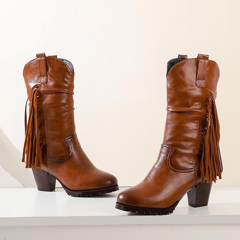 2021 nuevas marcas femeninas sexy media becerro negro zapatos botas de gran tamaño 43 R818