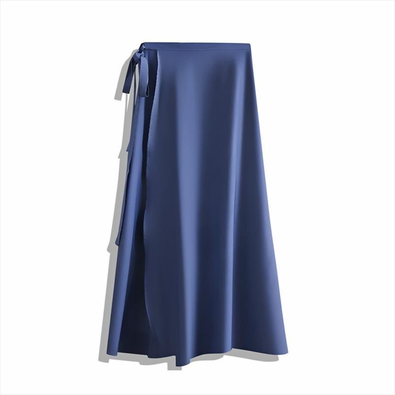 Hot Korean Elegant Strap High Waist Chiffon Piece Skirt Female Summer Long a Word Beach Wrapped midi Skirts Women office lady