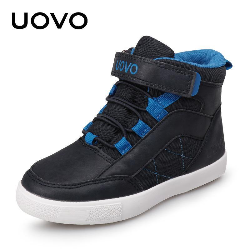 UOVO Новая осень зима детей ходьба обувь мода мальчиков повседневная обувь детей теплые удобные кроссовки размеры 28 # -37 # 201130