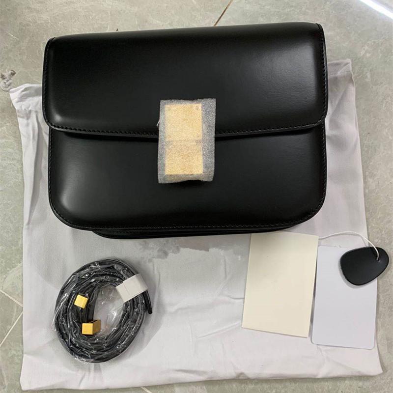 Geniune Luxus Taschen Tasche Klassische Casual Leder 2020 Klappe Tofu Schloss Umhängetasche mit Tasche Frauen Box Square Crossbody Design GGQQR