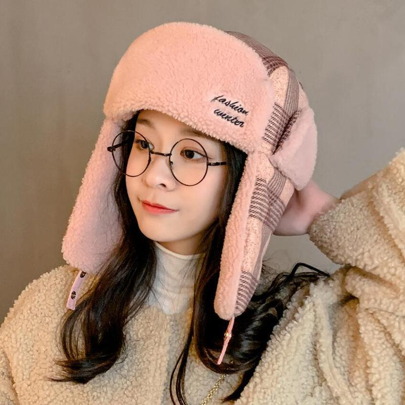 2020 nuova di guida berretto di lana con cappuccio antivento cappello freddo più protezioni di inverno collare con cappuccio cappello esterno caldo moda velluto che ispessisce