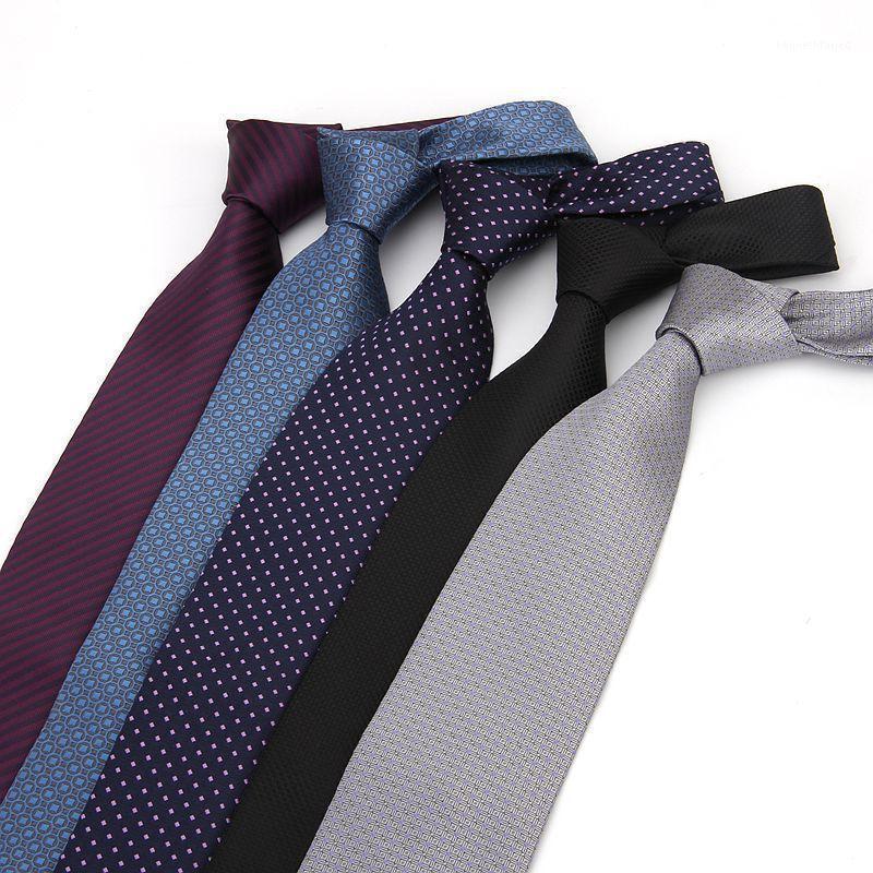 العلاقات الرقبة 8 سنتيمتر الرسمي للرجال البوليستر المنسوجة مطبوعة العنق الأزياء سليم الزفاف الأعمال الذكور عارضة gravatas1