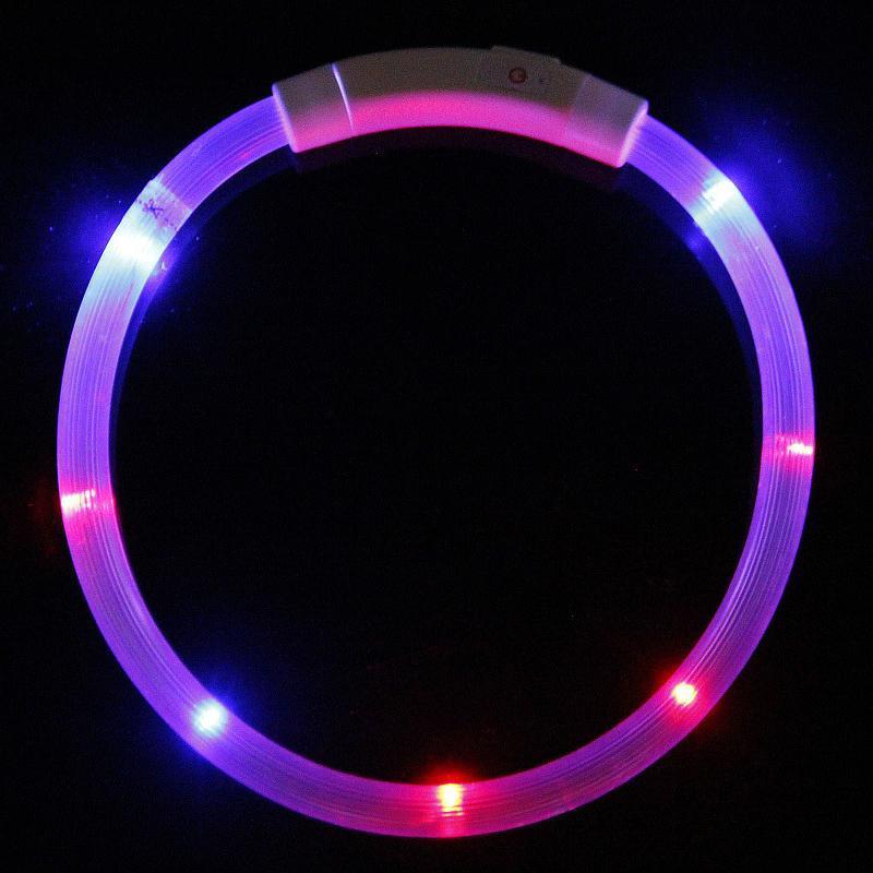 Cobrança USB Animais de estimação Cão Collar LED Outdoor Luminous Safety Colar Colares Luz ajustável LED Piscando Cachorrinho Colar Pet Supplies IIA833