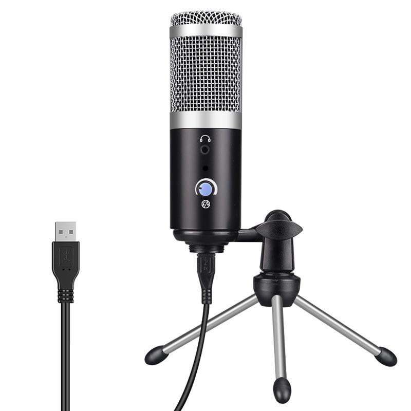 USB микрофон компьютера Используется для записи музыкальных инструментов K Песня Прямой трансляции Голоса Group Chat Штатив микрофона