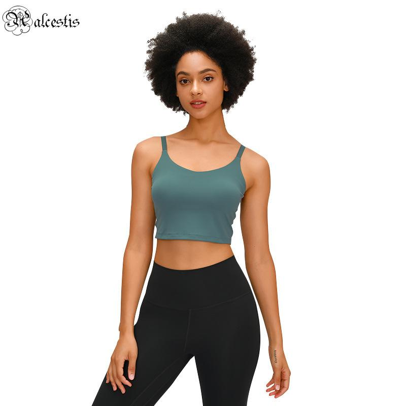 2021 lixado nu meia desgaste yoga terno com padre pad clássico fivela beleza back sling ioga colete fundo