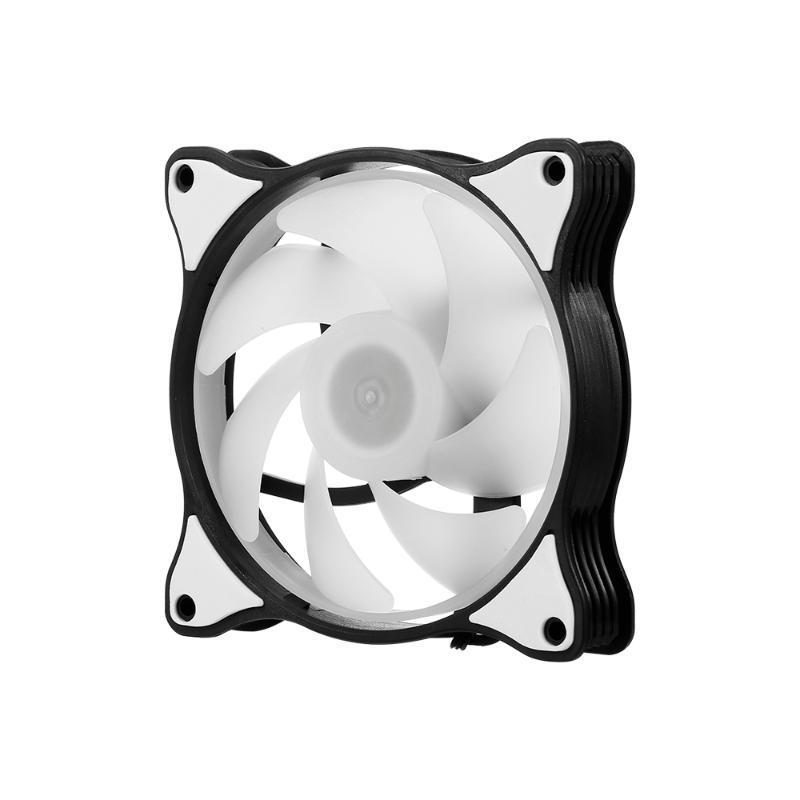 Ordinateur Radiateur RGB Fan RGB de refroidissement du boîtier du ventilateur Cooler Case Mute de refroidissement avec la lumière colorée réglable
