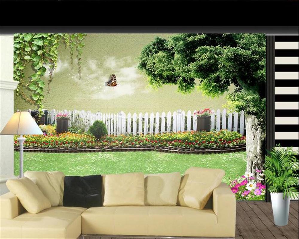 3d Современные обои Вуд Парк Зеленый Тень Дорога 3d пейзаж фона Wall Garden Flower Shed обои