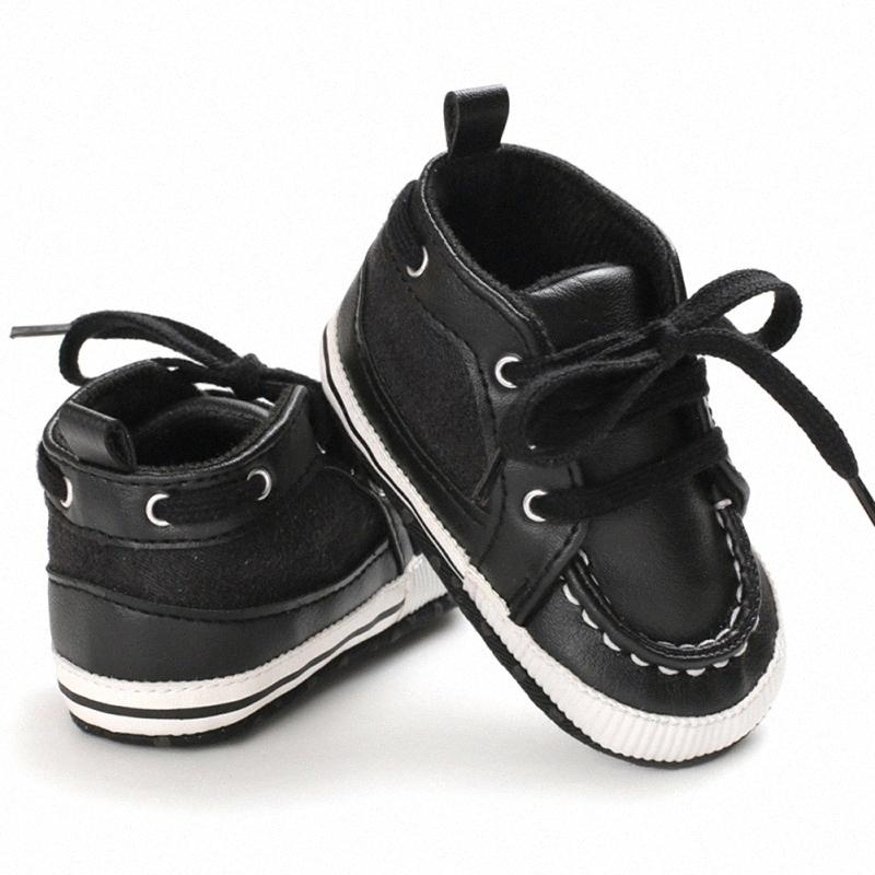Infant First Walkers Nonslip Soft Sole Toddler Baby Shoes Hot 0-18M PU Toddler Baby Shoes Leather Crib Boy Pq2P#