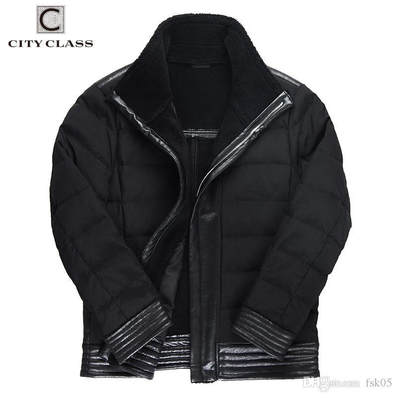 Clase de la ciudad Casual Popular Otoño Hombres Chaquetas Invierno Fresco Design Chaqueta Abrigo Cotton Zipper Parkas Nuevo Outwear Black Outwear Tops 178-17