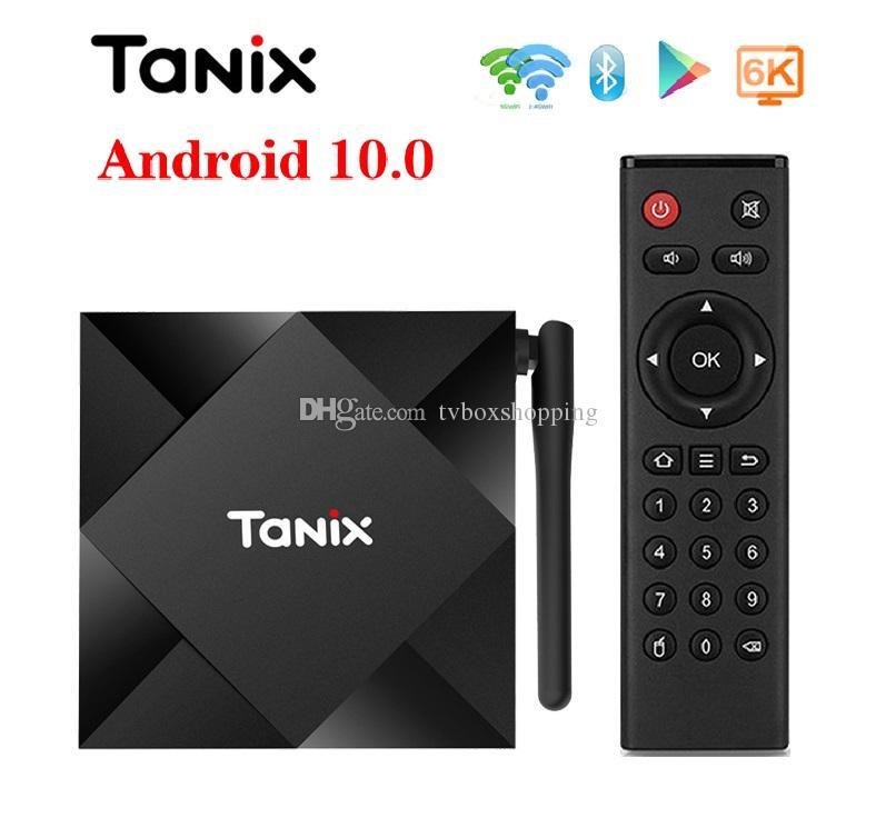 1 Piece! Tanix TX6S Android 10.0 OTT TV Box 4GB+32GB/64GB Allwinner H616 Dual WiFi 2.4G+5G With BT Smart TV Box