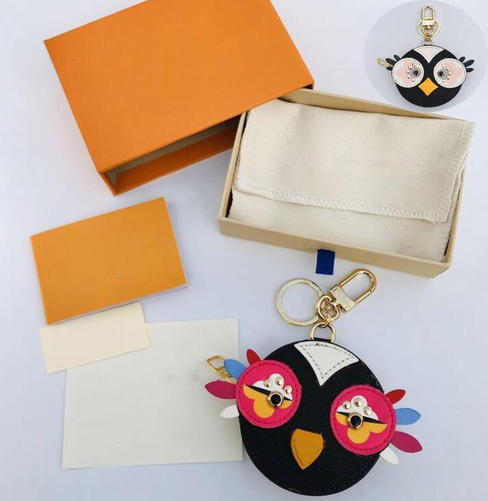 الطيور تصميم الحلي الفاخرة مفتاح مشبك محفظة قلادة أكياس سلاسل مفتاح مشبك المفاتيح إلكتروني أعلى جودة المرأة حقيبة الملحقات لا مربع