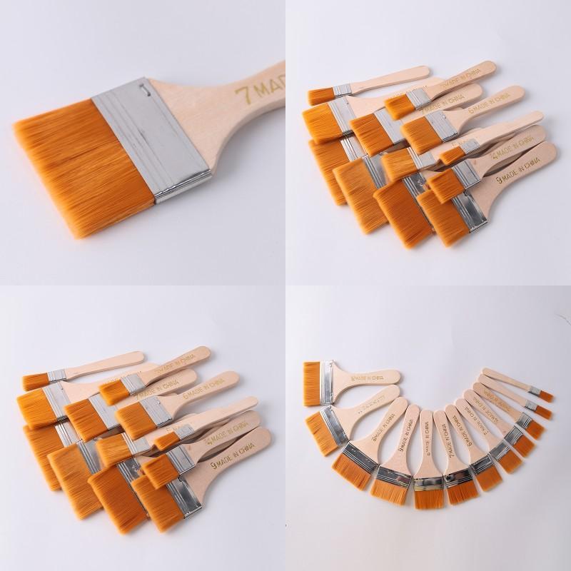 Cepillo de pintura de nylon de alta calidad Diferente Tamaño Manija de madera Cepillos de acuarela para pintura al óleo acrílico Suministros de arte escolar DBC 28 G2