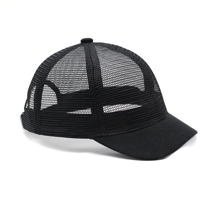 4.5cm bord court casquettes de baseball été adulte frais casquette plein soleil maille hommes et le sport de grande taille des femmes chapeau 55-62cm 201027