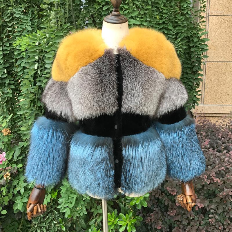 Nuovo Cappotto di pelliccia d'argento reale per le donne inverno Natural pecore shearing full pellicola spessore caldo cappotto caldo in pelliccia giacca di pelliccia11