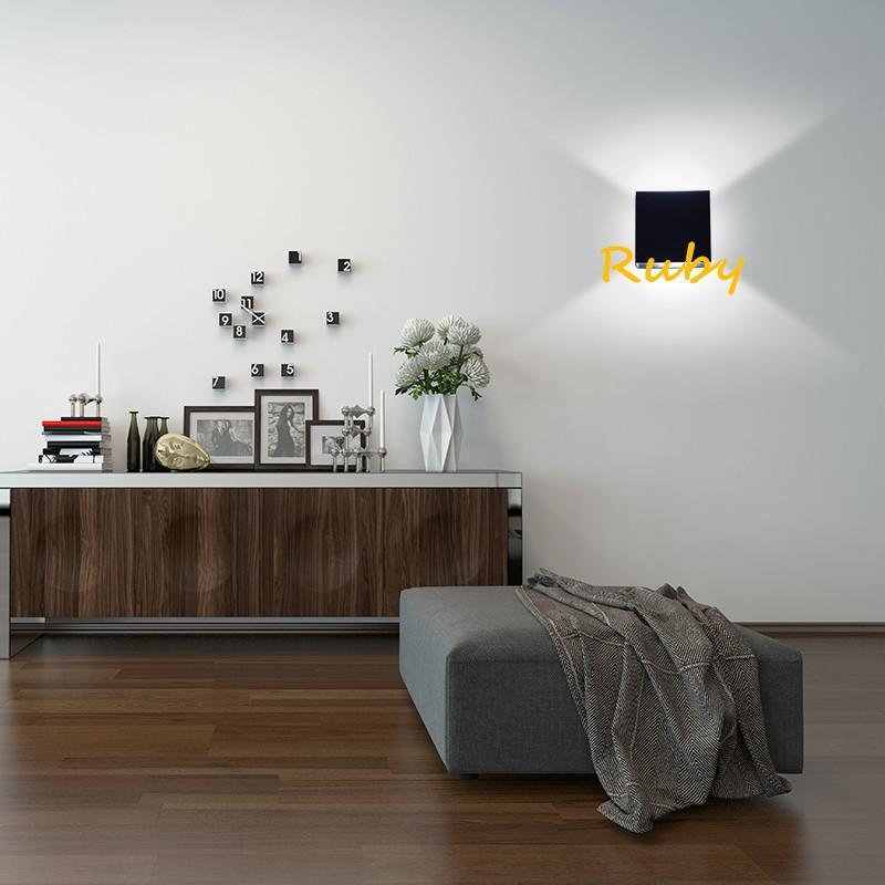 Frete Grátis Modern Breve 6W Lampada Retângulo Luz de Parede Dimmable 110V 220V Superfície Montada Lâmpada Interior Luminária 5pcs Ondenn