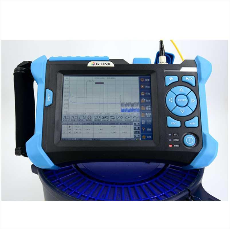 광섬유 장비 SM OTDR 1310/1550 850 / 1300nnm VFL 광학 시간 도메인 반사 계단 테스터 영어 스페인어