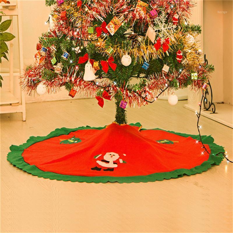 90 см Рождественская елка юбка праздник дерева украшения украшения для веселого рождества (красный) 1