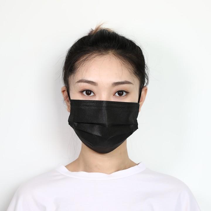 Máscara facial 4 preto nfqie não-tecido boca descartável cara de poeira de poeira protetora pm2.5 máscaras faciais cobrem máscara segurança anti máscaras camadas dnmhr