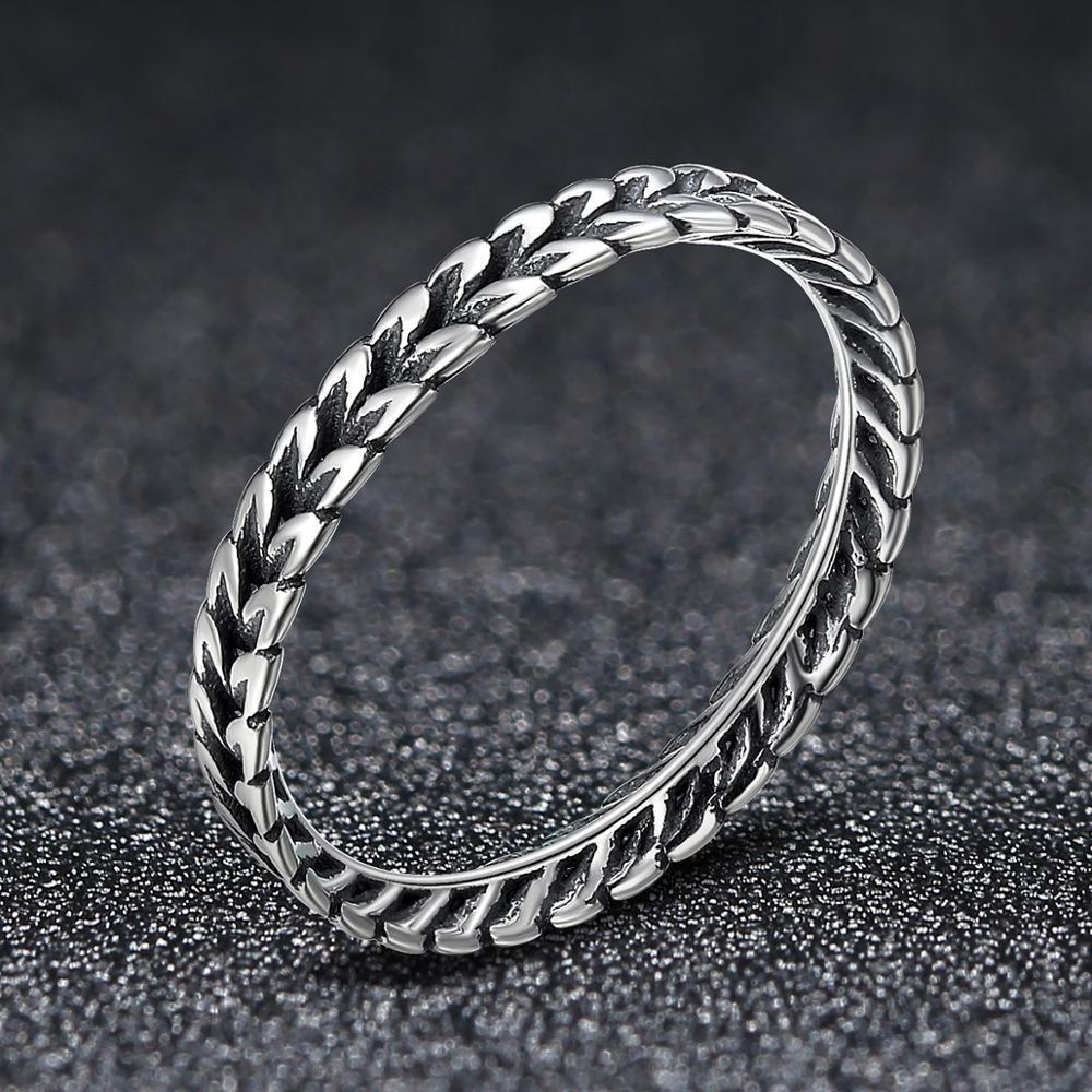 2020 Nuevo New Genuine 925 Sterling Silver Unisex Retro Rings Girl Wedding Reception High Jewelry Mujer de lujo Exquisito Anillo Y0122