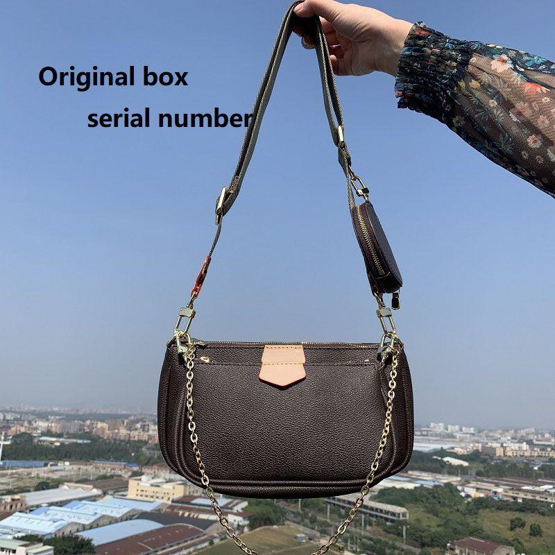 С коробкой M44823 Luxurys 3 шт. Сумки Любимые мульти Pochette Аксессуары Женщины Дизайнерские Кошельки Дамы Подгоняющие Сумка через плечо