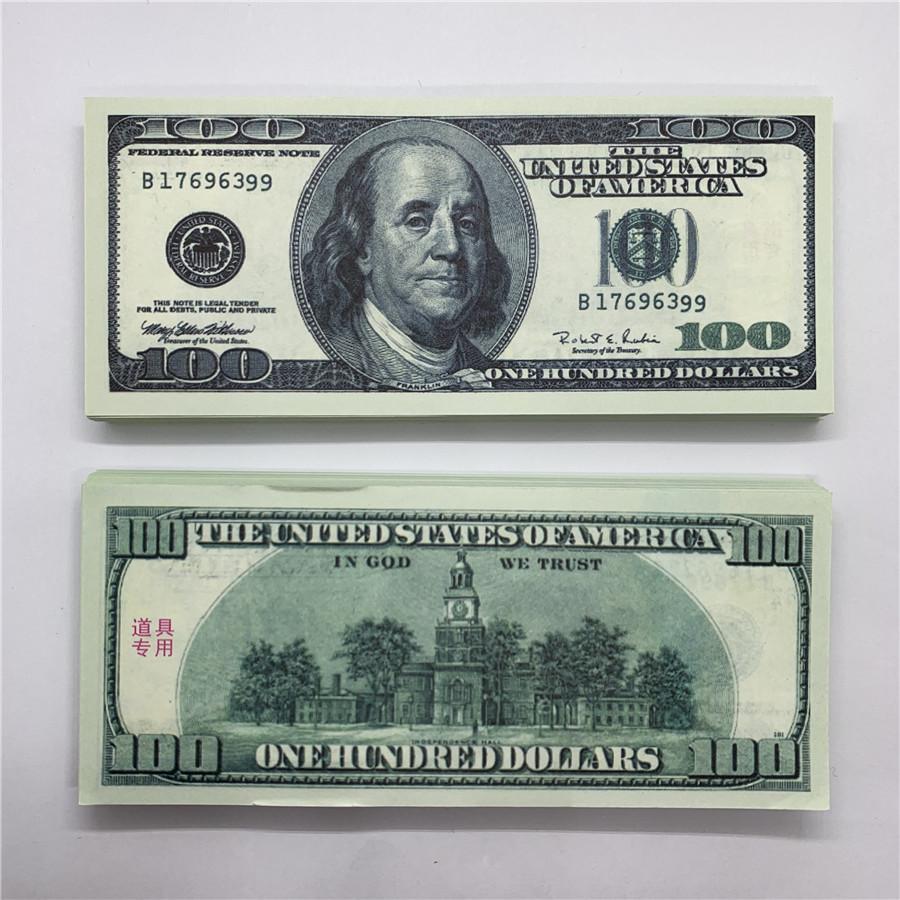 Dollar Copie Shooting U.S.Currency Billets de banque Jouet Cjjin Old 100 Enfants Banque forgée Performance O4 Faux accessoires Bar Money XGILO