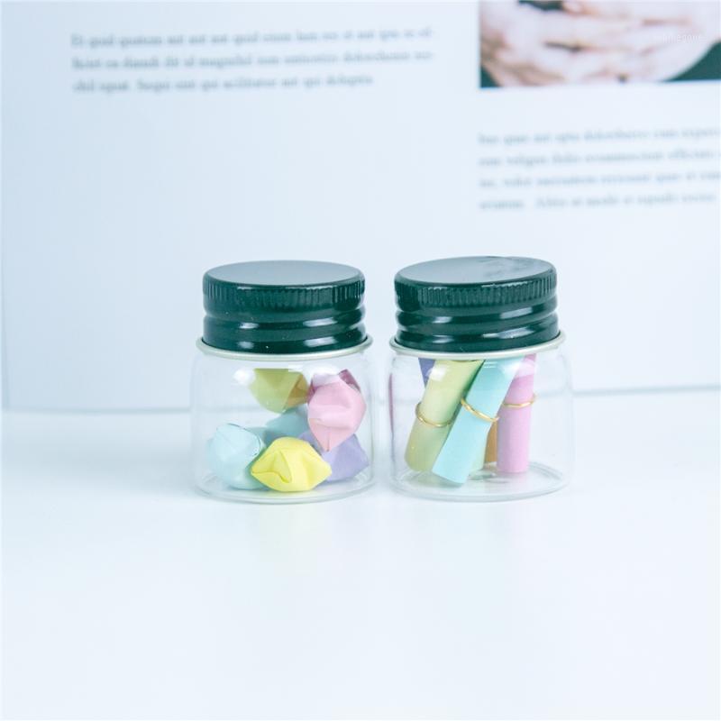 24pcs 20 ml de bouteilles en verre à baïonnette avec capuchon en spirale noire Cap de petites flacons d'artisanat hyalin et adapté aux bonbons pot1